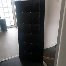 Double head board black crushed velvet & diamante