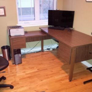 Nadeau L-Shape 2 level Office Desk