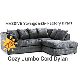 🚚 🚨BRAND NEW Jumbo Cord 3+2 Sofa set or Corner suite 🛻🚘