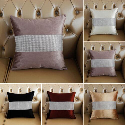 "Retro 17"" Soft Diamond Velvet Throw Pillow Cases Cushion Cov"