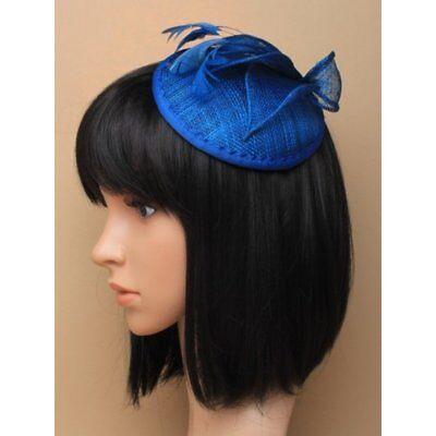 Kingfisher Azul Tocado con Pluma Mujer Carreras Sombrero Boda Fiesta Royal Ascot