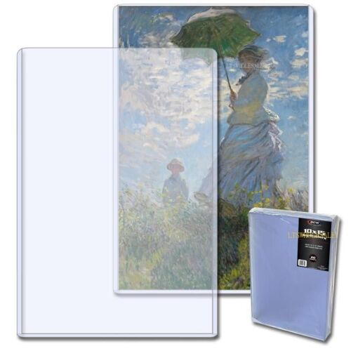 BCW 10 x 15 Top Loader Photo Print Cover Sleeve (1)  Holder NEW