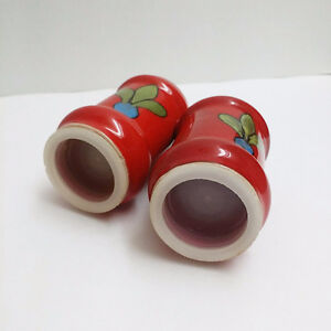 Cheery & Bright Vintage Salt & Pepper Shakers on Wooden Stand Kitchener / Waterloo Kitchener Area image 4