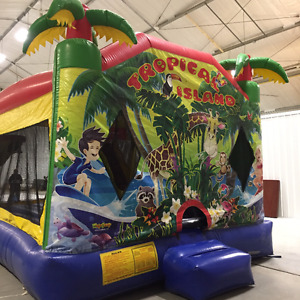 TROPICAL ISLAND BOUNCE HOUSE FOR SALE