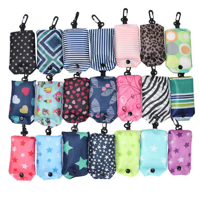 Folding Shop Bag - Reusable Waterproof Folding Shopping Bag Portable Eco Foldable Shoulder Handbag