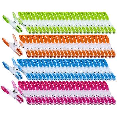 Wäscheklammer Sets: Wäscheklammern mit Soft-Grip, 200 Stück, in 4 Farben