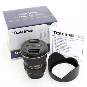 Tokina 12-24mm F4 Aspherical AT-X124 Pro DX Canon EF Lens
