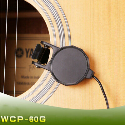 for Acoustic Guitar Ukulele  Piezo Clip-On Pickup Violin Mandolin Microphone US
