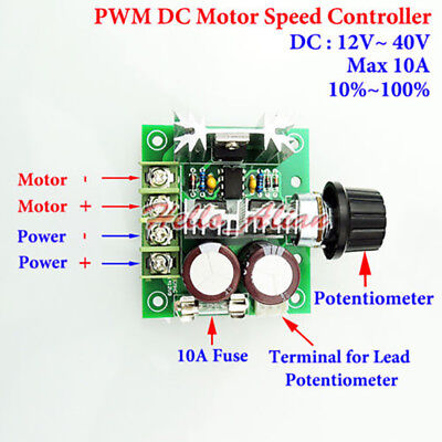 12-40v 15v 18v 24v 36v 10a Pwm Dc Motor Speed Driver Controller Regulator Switch