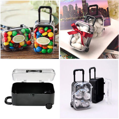 Mini Rolling Travel Suitcase Boxes Plastic Wedding Party Favour Gift Candy Boxes (Mini Gift Boxes)