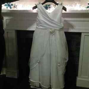 Beautiful White First Communion / Bridal Dress with Tiara & Veil