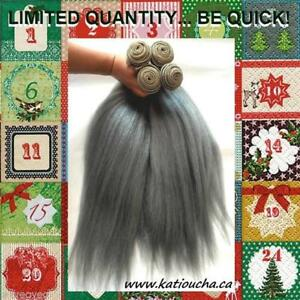 BIG CHRISTMAS SALE *SILVER GRAY SALE*$49. per bundle!!! 22'' (56 cm) *LIMITED TIME* 100% HUMAN HAIR BRAIDING HAIR