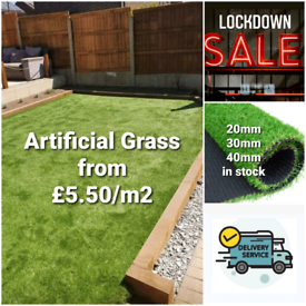 🔥Artificial/fake grass lawn astro turf from £5.50/m2🔥