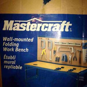 Mastercraft - Wall-mounted Folding Work Bench