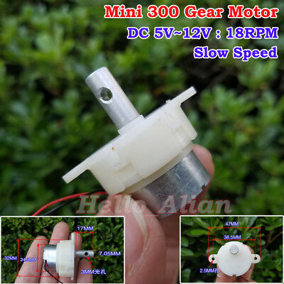 Dc5v12v 18rpm Slow Speed Micro Worm Gear Motor Mini Gearbox Reduction Gearmotor