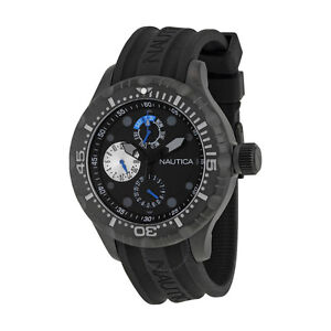 Nautica BFD 100 Multi-function Black Dial Silicone Men's Watch