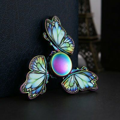 Fidget Hand Spinner Rainbow Butterfly Finger Gyro EDC Focus ADHD Autism Toy Gift