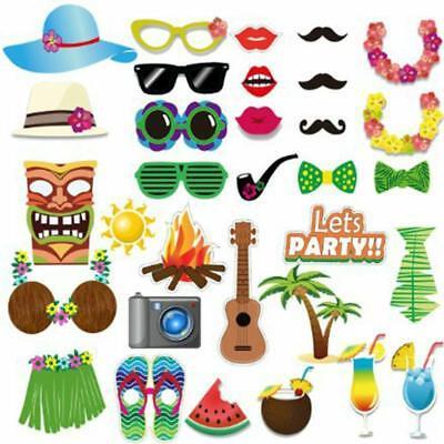 Props Photo Booth Beach Party Luau Summer Pool Hawaiian Birthday Supplies Stick