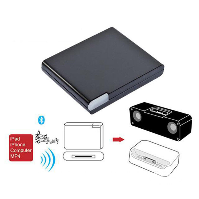 Bluetooth 30Pin Dock Adapter Wireless Music Audio Receiver For IPhone IPad IPod