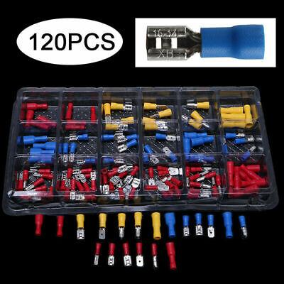 x120 Terminal faston Crimp Aislado Pala Conector de Cable eléctrico de auto...