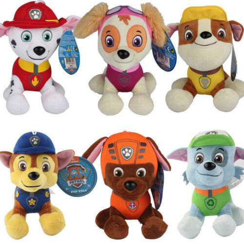 "8 styles PAW PATROL Plush Dogs PUP SKYE Chase Ryder Toys 8"" Gift 5"" Teddy"
