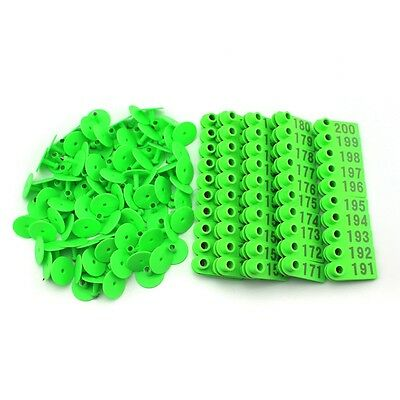 Goat Sheep Pig 101-200 Number Plastic Livestock Ear Tag With Green Color