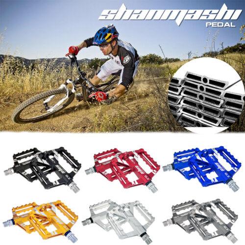 1Pair Bike Pedals Mountain Road Bicycle Flat Platform MTB Cycling Aluminum Alloy