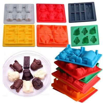 Silicone Star Wars Ice Cube Tray Mould Chocolate Whiskey Mold Han Solo R2D2