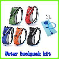 Water Bladder Backpack Bag 2L Rucksack Cycling Sport Pack Hiking