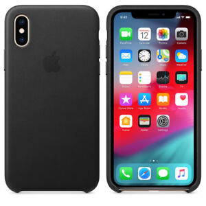 Genuine Apple IPhone XS / X Real Leather Case BRAND NEW - Black
