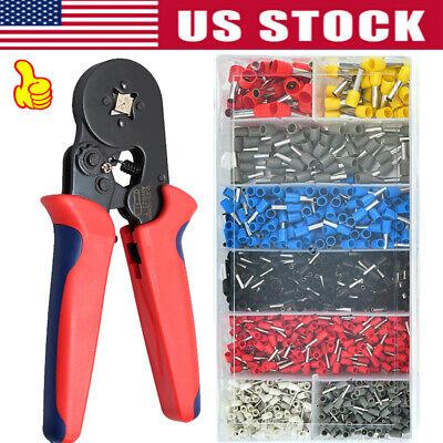 0.25-10mm2 Ferrule Crimper Crimping Pliers 1200pcs Terminals Crimp Tool Kit Us