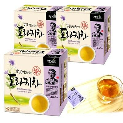 Korea Pure Bellflower Tea (40T x 3 Box) 120 Tea bags - Cough, Phlegm, bronchitis