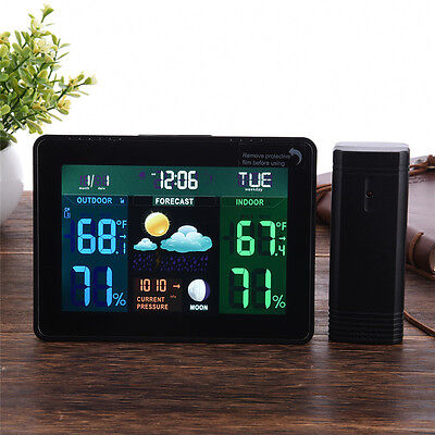 Wireless Weather Station Indoor Outdoor Forecast Temperature Humidity Meter New
