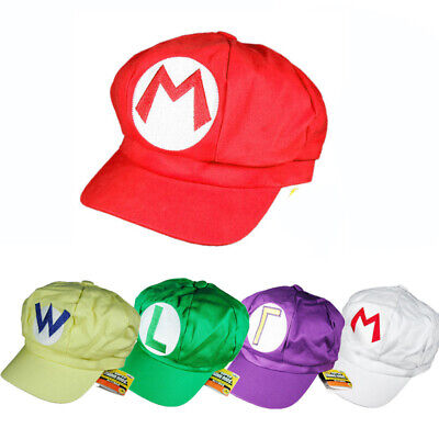 Super Mario Bros Cap Game Character Cosplay Cap For Kids Children Accessories