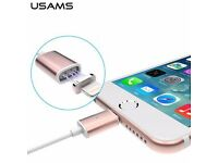 Brand New Rose Gold Magnetic 8 pin Micro USB Lightning Cable Adapter for iPhone (FREE DELIVERY)