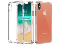 2x Soft TPU Shock Absorption Crystal Ultra Clear Bumper Case for Apple iPhone X
