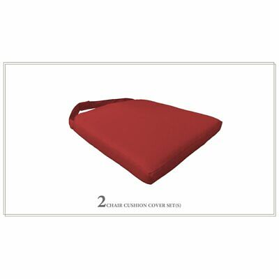 TK Classics 2 Cushions for Dining Chairs in Terracotta