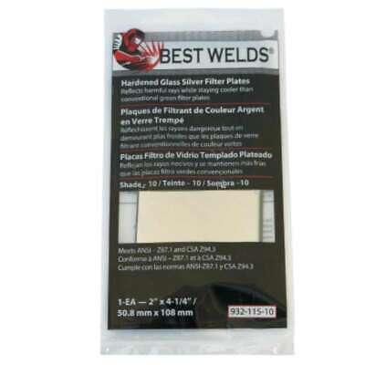 Best Welds Glass Silver Mirror Filter Plate 606230024344