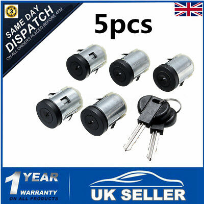 5x Barrel Lock Door Lock 2 keys For Peugeot Expert 806 Citroen Synergie Dispatch