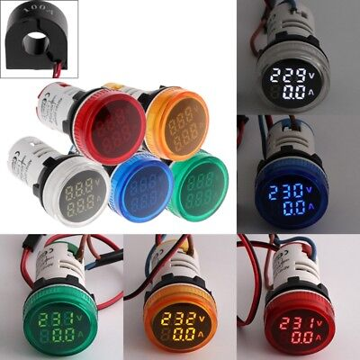 2in1 22mm Ac50-500v 0-100a Amp Voltmeter Ammeter Voltage Current Meter With Ct