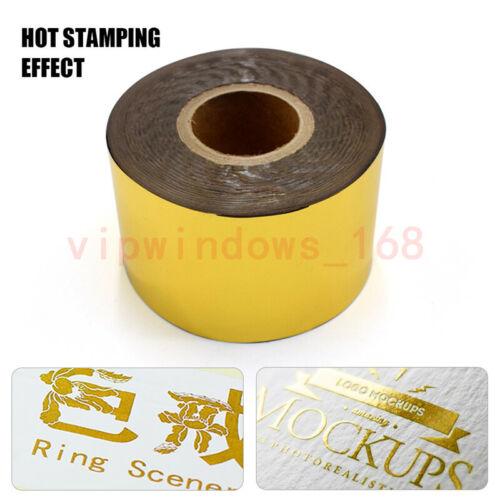 3CMx100M Gold Black White Thermal Transfer Ribbon Hot Stamping Foil Printer Belt