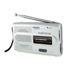 Portable Radio FM/AM Pocket Size Built-in Speaker Headphone Jack BC-R28