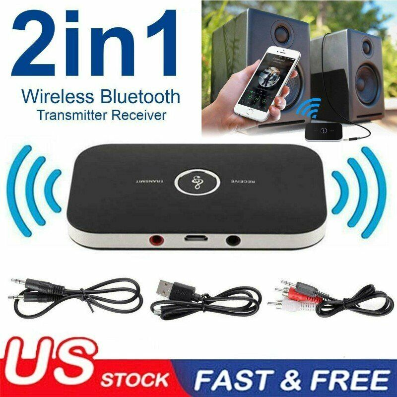 2in1 Bluetooth 5.0 Transmitter & Receiver Wireless A2DP TV Stereo Audio Adapter
