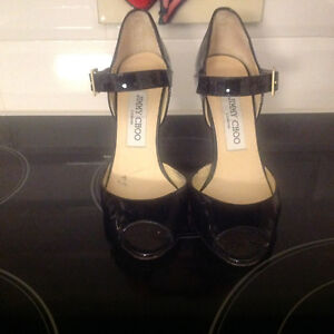 Jimmy Choo's - Black Patent Leather size 5