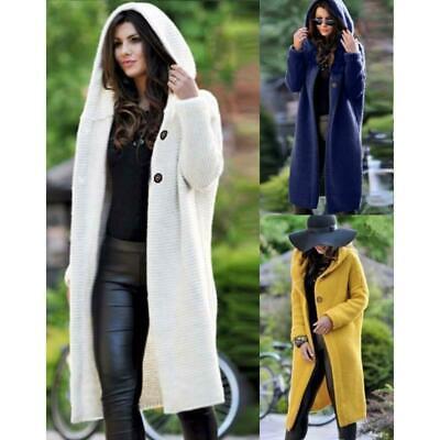Neuer Damen Casual Blazer langärmeliger Strickjacke-Mantel Hoodie Größe - Hoodie Jacke Mantel