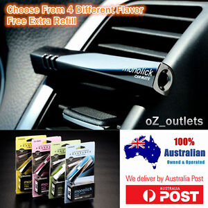 Car Vent Perfume Air Conditioner Freshener Fragrance Polished ABS Free Refills