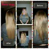 Tape in, Nano ring, micro ring extensions promo