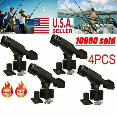 For Kayak Boat Fishing Pole Rod Holder Tackle Kit Adjustable Side Rail Mount 4PC