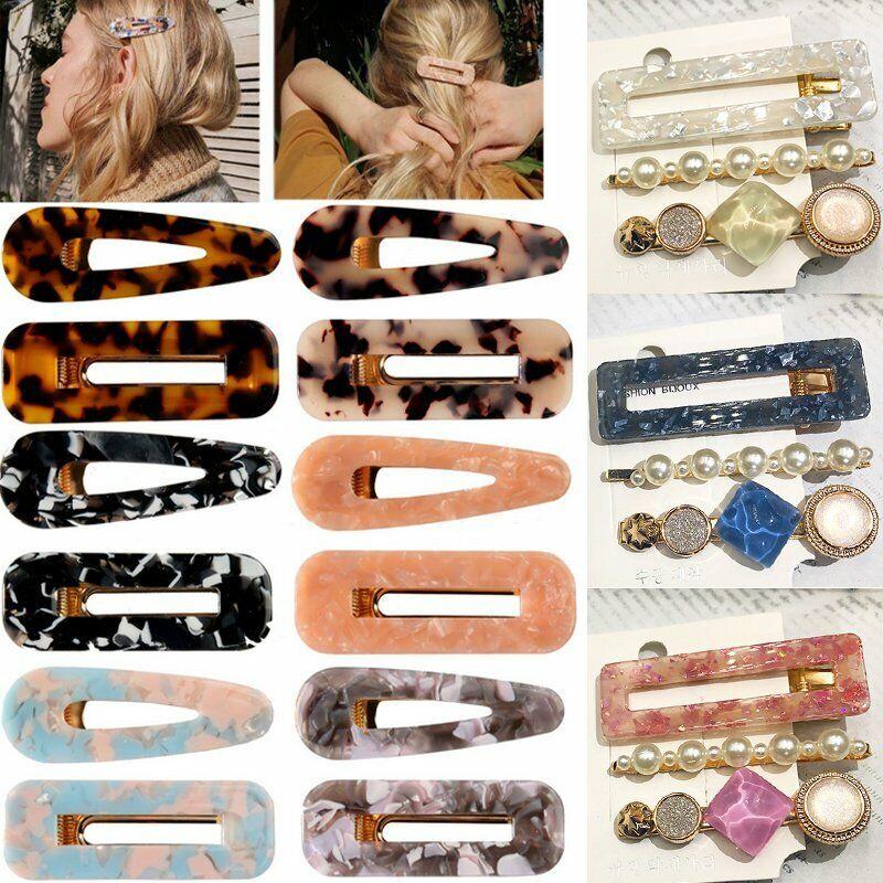 Women/'s Hair Slide Clips Snap Barrette Hairpin Pins Hair Accessories Fashion Set