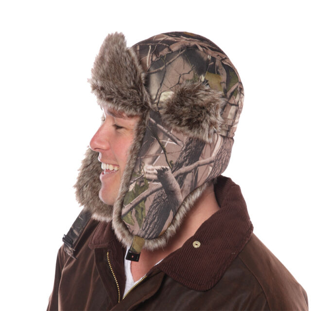 Camo woodland Camouflage Fur Trapper RUSSIAN Hat Great Quality New